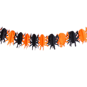 Halloween party Decoration Spider Pumpkin Scary Witch Garland Halloween Paper Haunted House