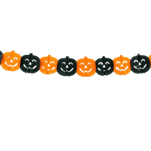 Load image into Gallery viewer, Halloween party Decoration Spider Pumpkin Scary Witch Garland Halloween Paper Haunted House