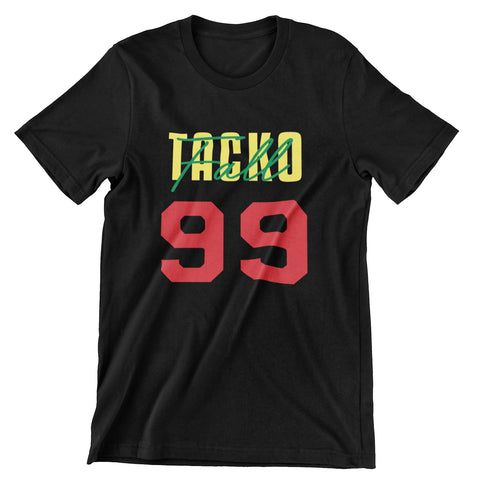 Tacko Fall Signature Black Tshirt Senegal Print Front