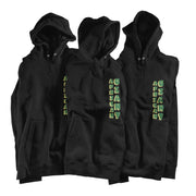 Tacko Fall African Giant Black Hoodie - Green Print Front Multi