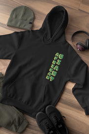 Tacko Fall African Giant Black Hoodie - Green Print Front on The Ground