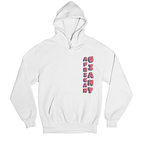Tacko Fall African Giant White Hoodie - Red Print Front