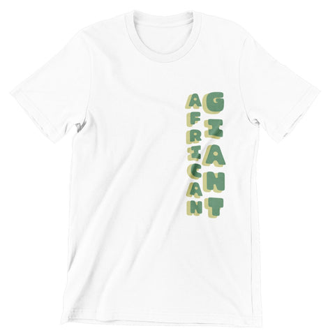 Tacko Fall African Giant White Tshirt - Green Print Front