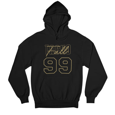 Tacko Fall Signature Black Hoodie Gold Print Front