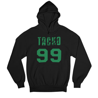 Tacko Fall Signature Black Hoodie Green Print Front