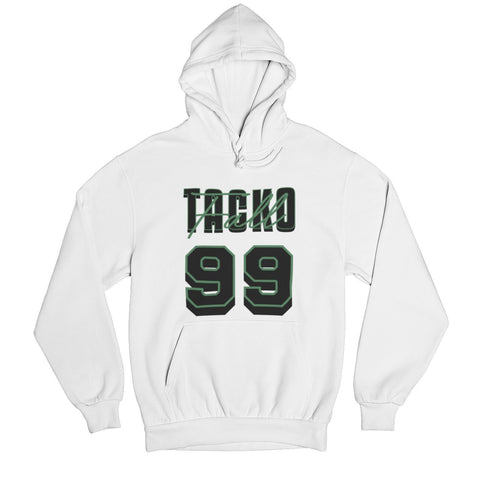 Tacko Fall Signature White Hoodie Black/Green Print Front