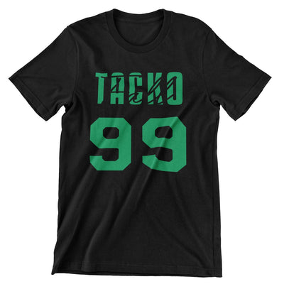 Tacko Fall Signature Black Tshirt Green Print Front