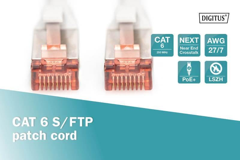 Digitus - Cable Ethernet FTP CAT 6 Gris 7 m.