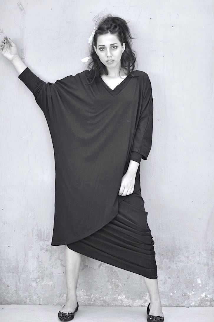 Chandra, Oversized Jumper Dresses, Sustainably Made with Organic Lycra - shopkaito