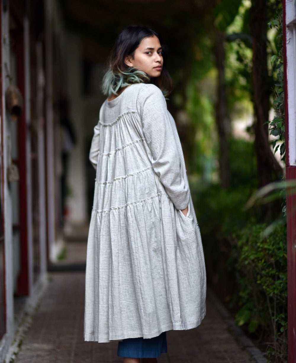 Philomena, Organic Kala Cotton Flared & Tiered Dress + Loose Fit Pants-kaitoWovens