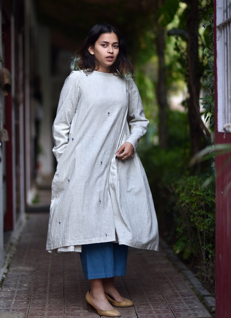 Philomena, Organic Kala Cotton Flared & Tiered Dress + Loose Fit Pants-kaitoWovens - kinchecom