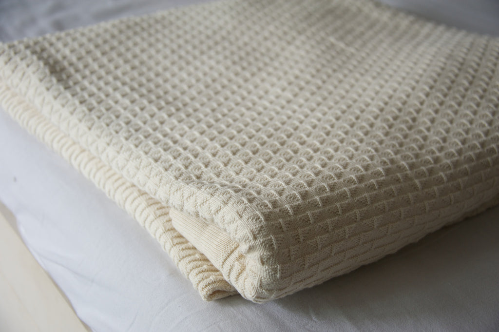 Alke, Pure Cotton Luxury Knitted Blanket 102x92 Inches