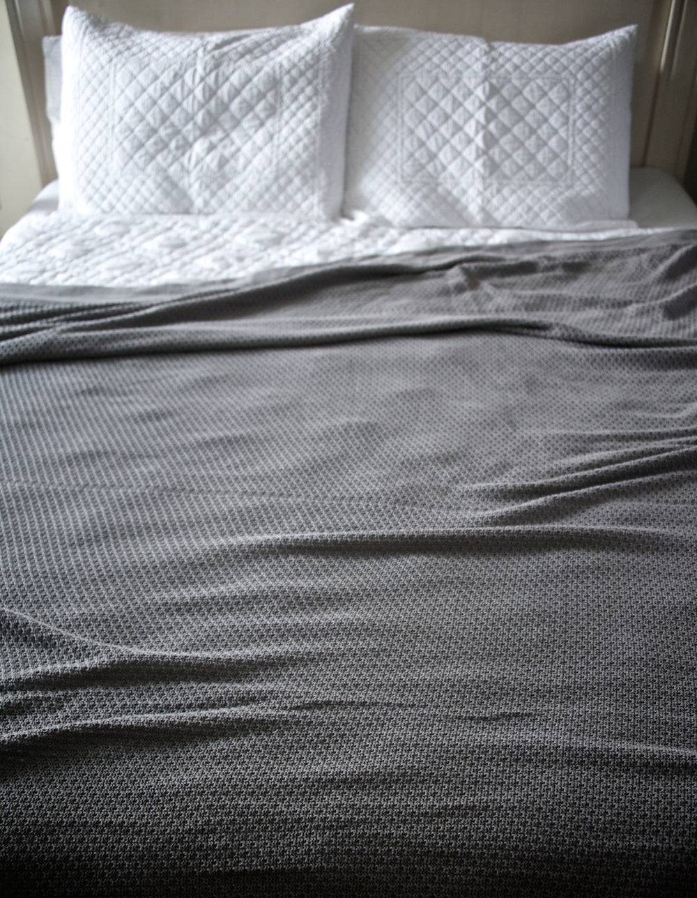 Apheleia, Pure Cotton Charcoal Blanket  102X92 Inches
