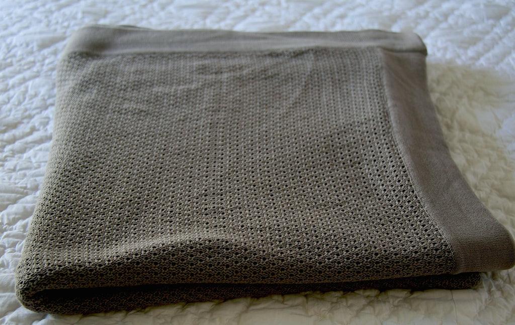 Apheleia, Pure Cotton Charcoal Blanket  102X92 Inches - kinchecom