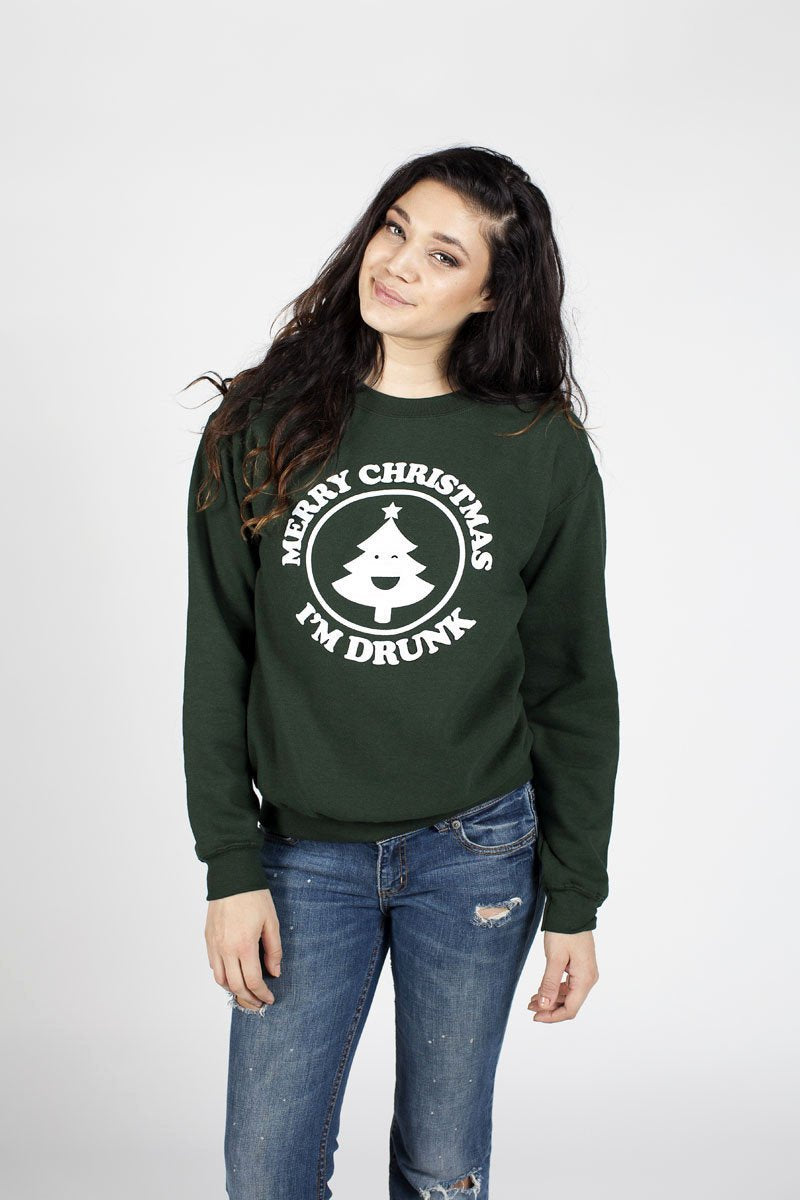 Merry Christmas I'm Drunk - Crewneck Sweatshirt