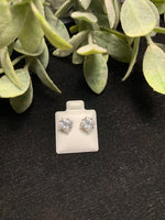 Load image into Gallery viewer, Square CZ stud earrings