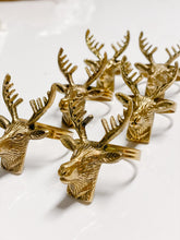 Load image into Gallery viewer, Set of 6 - Antique Reindeer Napkin Holders