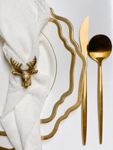 Load image into Gallery viewer, Set of 6 - Antique Gold Reindeer Napkin Holders