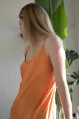 Frivolo Dress in seta pura arancione