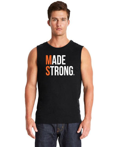 Made Strong® (MS) Men's Muscle Tee Black