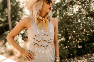Cody Country Ladies Grey Tank
