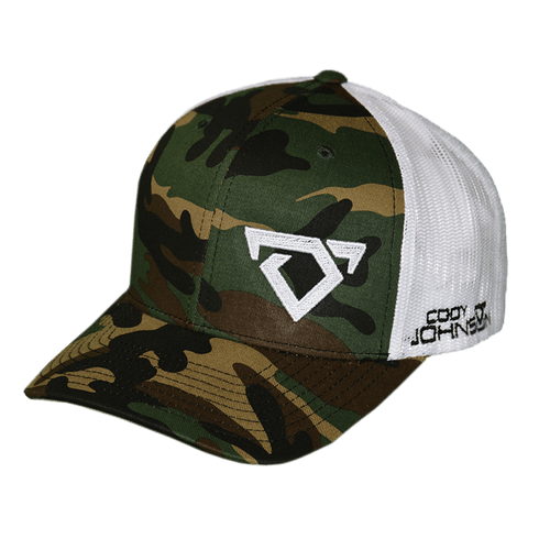 Cody Johnson Camo Hat with Horns ( Snapback )