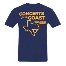 Load image into Gallery viewer, Cody Johnson Concert for the Coast Blue Tee