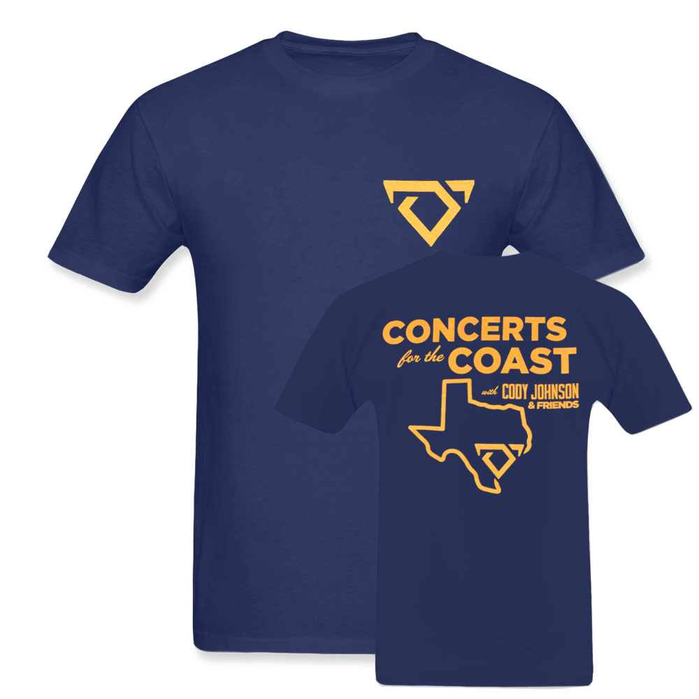 Cody Johnson Concert for the Coast Blue Tee