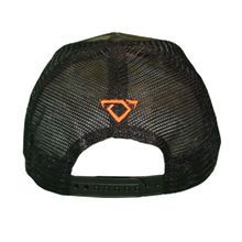 Load image into Gallery viewer, Back of Cody Johnson Camo with Orange Patch Hat with a small orange bull horns logo