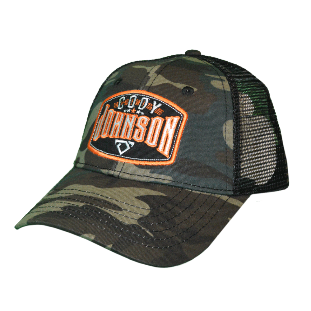 Cody Johnson Camo with Orange Patch Hat