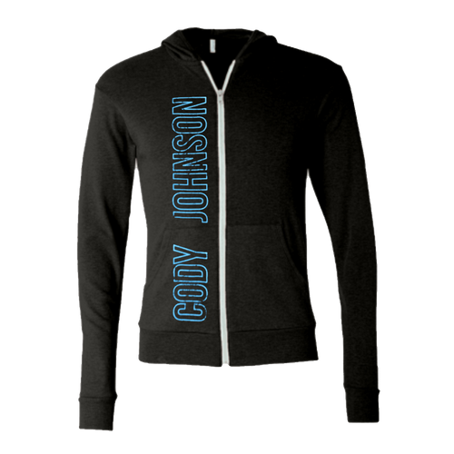COJO Nation Charcoal Grey Lightweight Zip Hoodie