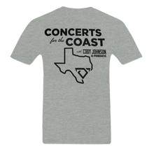 Load image into Gallery viewer, Back of Cody Johnson Concert for the Coast Gray Tee