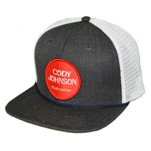 Cody Johnson Patch Hat, Grey with White back