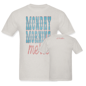 Monday Morning Merle ( Distressed ) Tee Vintage White