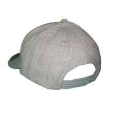 Load image into Gallery viewer, Plain grey back of Cody Johnson Snap Back Hat with Blue Patch