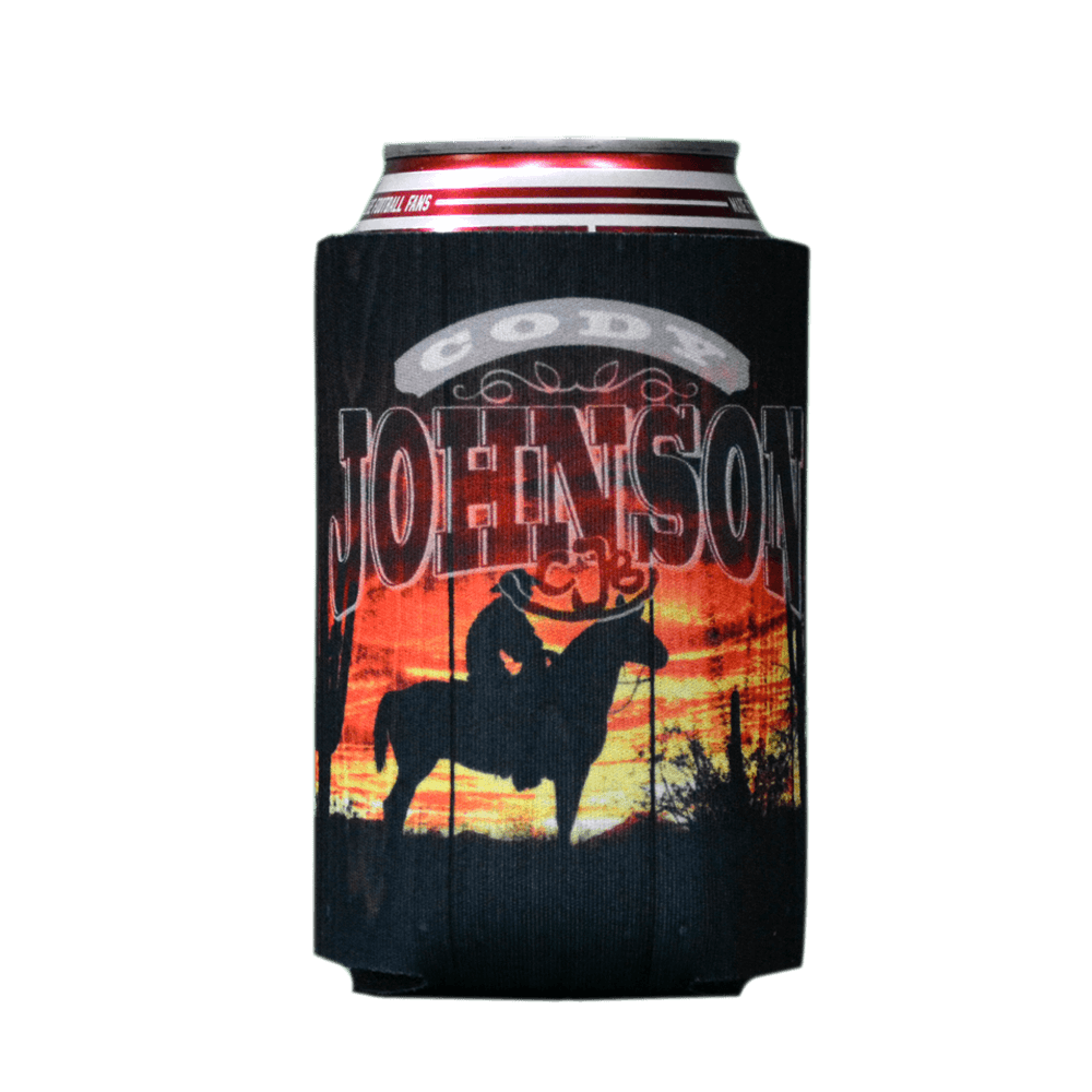 Sunset Cowboy Drink Koozie