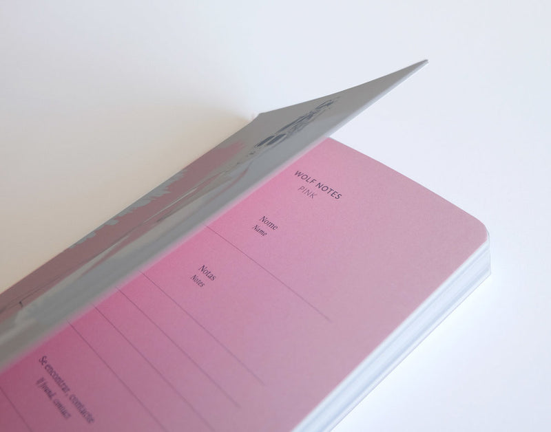 Wolf Notes · Pink - 3 Notebooks