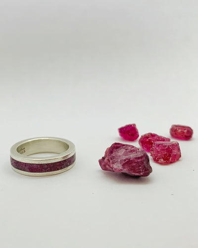 Rough Ruby Inlay