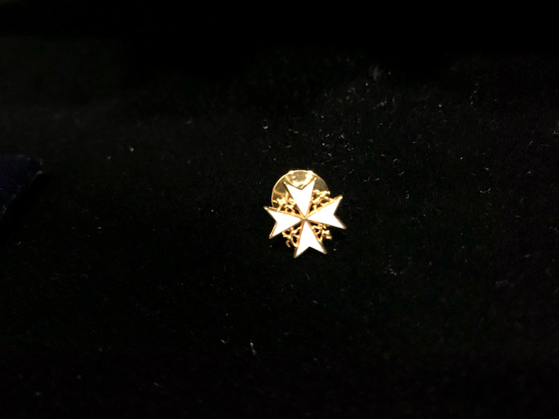 Elleard Heffern Gold and Enamel Lapel Pin