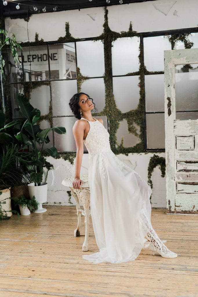 Easy and breezy, the Sargasso wedding dress is perfect for a desintaion, casual or micro wedding. Designed by Catherine Langlois in Toronto, Ontario, Canada.