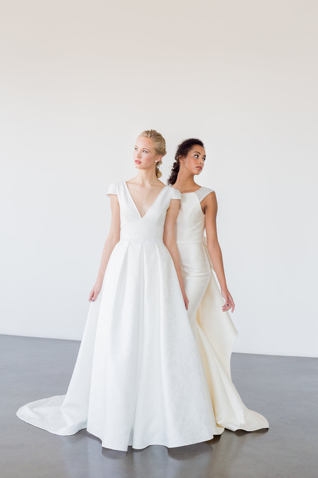 Fresh and classic, the Pascale A line wedding dress by Catherine Langlois is pretty and simple. Designed and made in Toronto, Ontario, Canada.