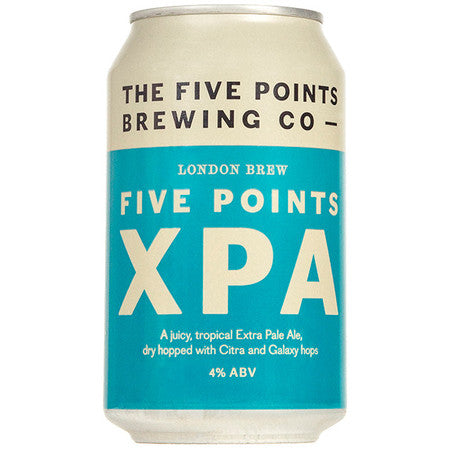 Five Points. XPA extra pale ale 4.0% (330ml can)