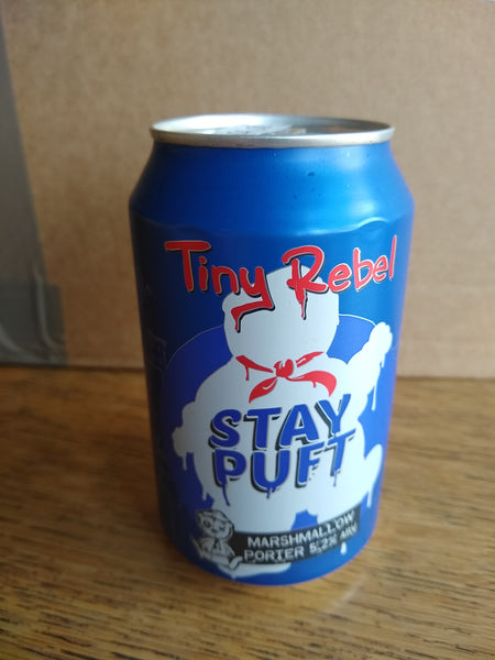 Tiny Rebel. Stay Puft marshmallow porter 5.2% (330ml can)