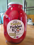 Pickled Eggs. Beetroot variety. (Large jar, approx 28 eggs)