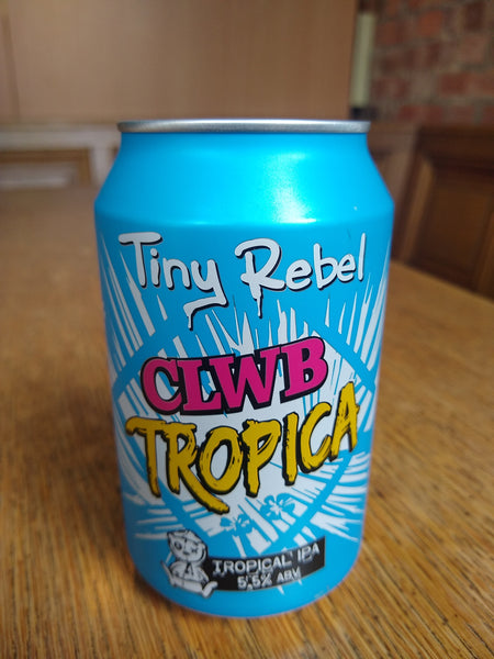 Tiny Rebel. Clwb Tropica tropical juicy IPA 5.5% (330ml can)