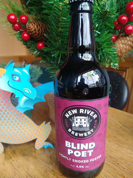 New River. Blind Poet porter 4.5% (500ml bottle)