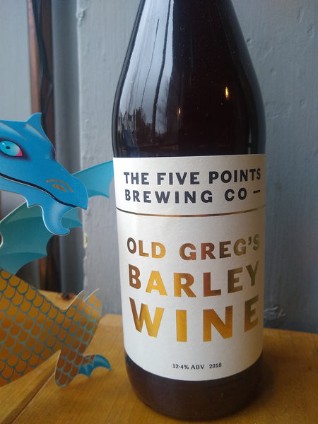 Five Points. Old Greg's 2018 Barley Wine 12.4% (650ml sharing bottle)