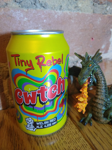 Tiny Rebel. Cwtch. Award-winning red ale 4.6% (330ml can)