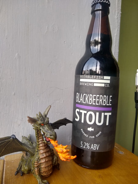 Beerblefish. Blackbeerble Stout 5.2% (500ml bottle)
