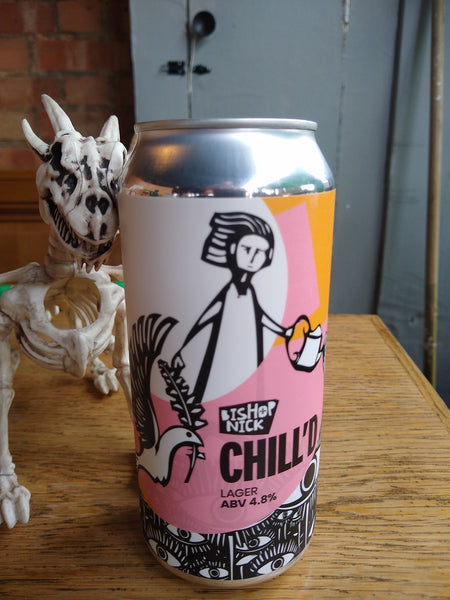Bishop Nick. Chill'd. Lager 4.8% (440ml can)